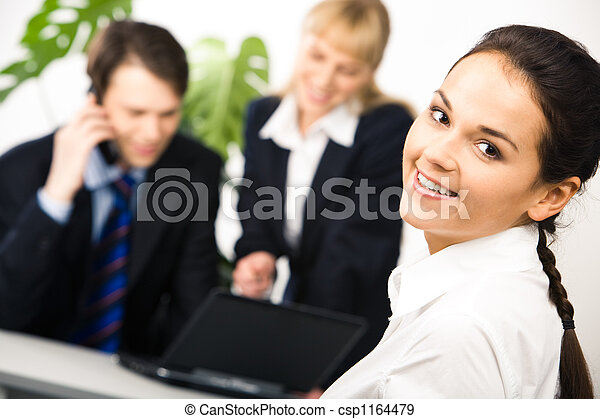 Smiling employee - csp1164479