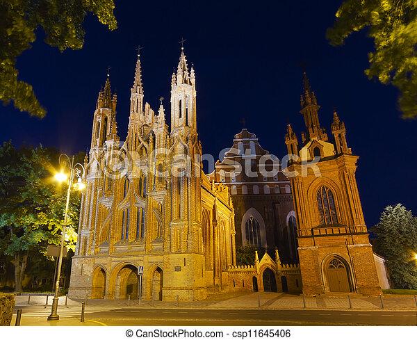 St. Anne's Church, Vilnius, Lithuania - csp11645406