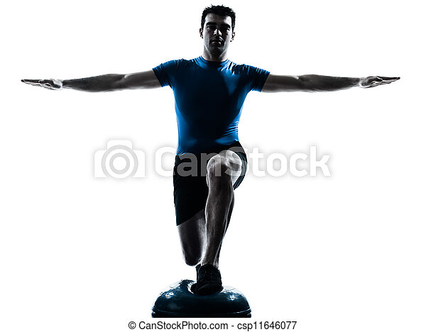 man exercising workout fitness posture - csp11646077