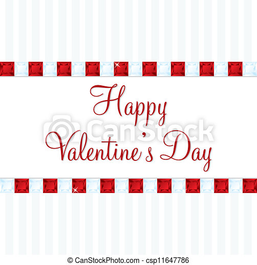 Bling Valentine's Day Card - csp11647786