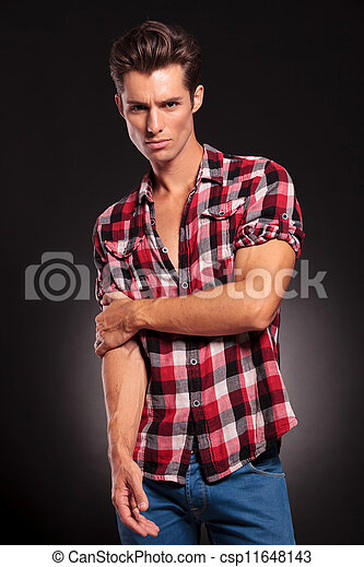 Young attractive fashion man - csp11648143