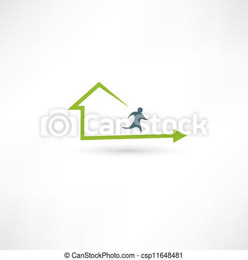 Home fitness icon - csp11648481