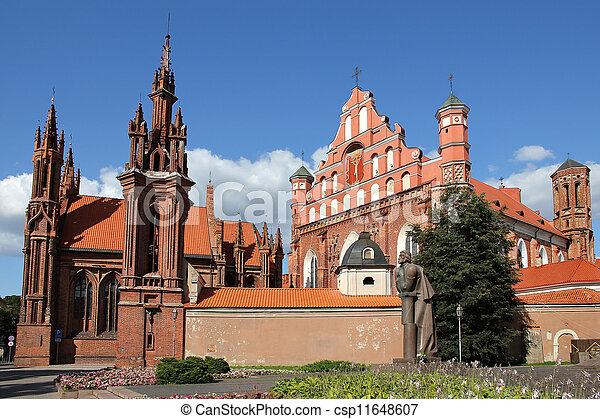 St. Anna's Church in Vilnius,  Lithuania. - csp11648607