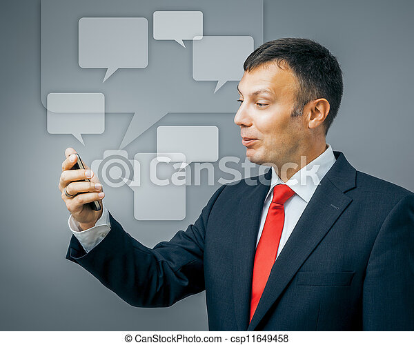 business man communication - csp11649458