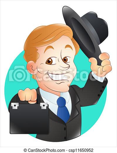 Clipart Vector of Banker Vector Illustration - Creative ...