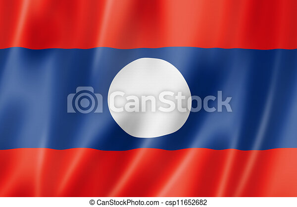 Laos flag - csp11652682