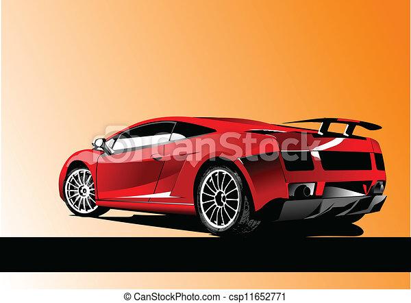 Automobile show with concept-car.  - csp11652771