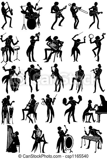 Illustration de complet ensemble de musiciens complet - Dessin musicien ...