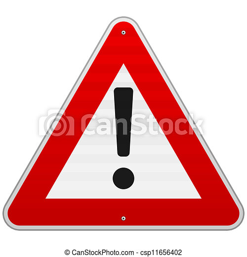 Isolated Alert Triangle Sign - csp11656402