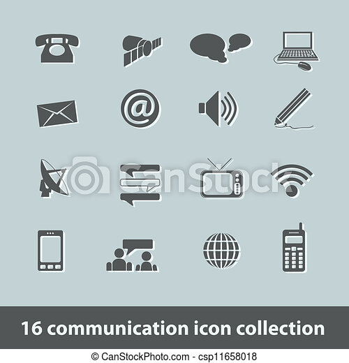 communication icons - csp11658018