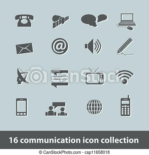 communication icons - csp11658018