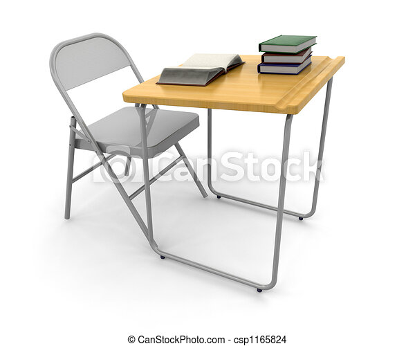 Desk and chair - csp1165824