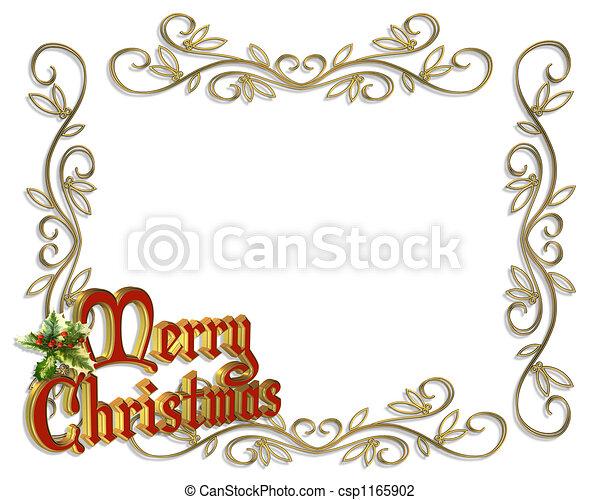 Christmas Border Frame 3D - csp1165902