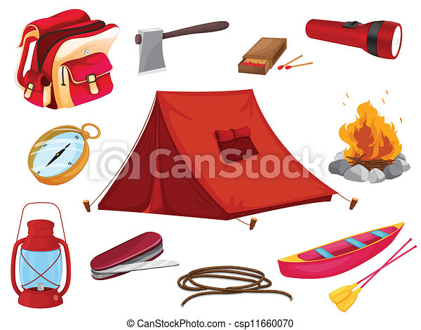 various objects of camping - csp11660070