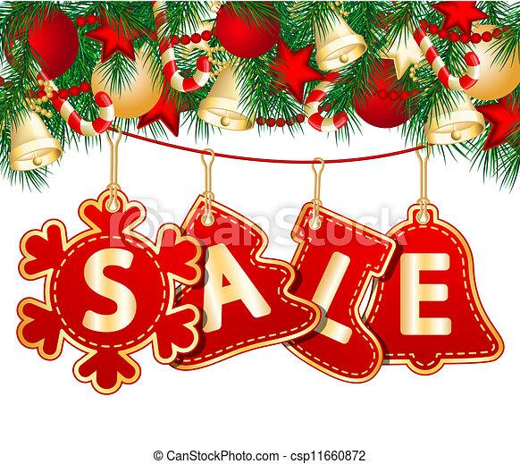 Christmas Sale Tags - csp11660872