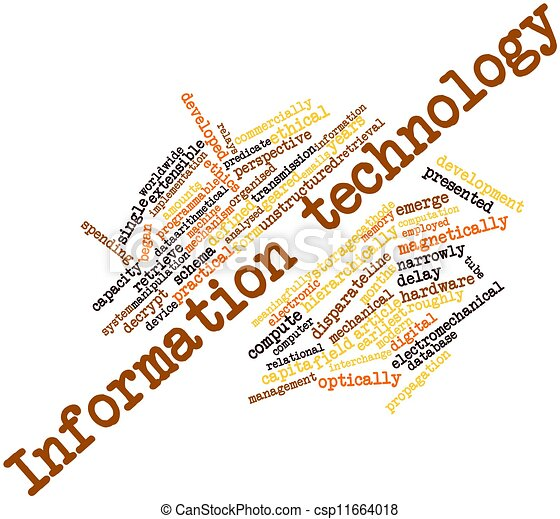 Clipart of Information technology - Abstract word cloud ...