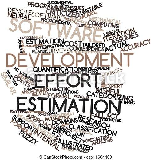 Stock Illustration of Software development effort ...