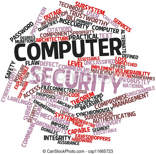 Clip Art of Computer security - Abstract word cloud for ...
