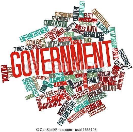 Word cloud for Government - csp11666103