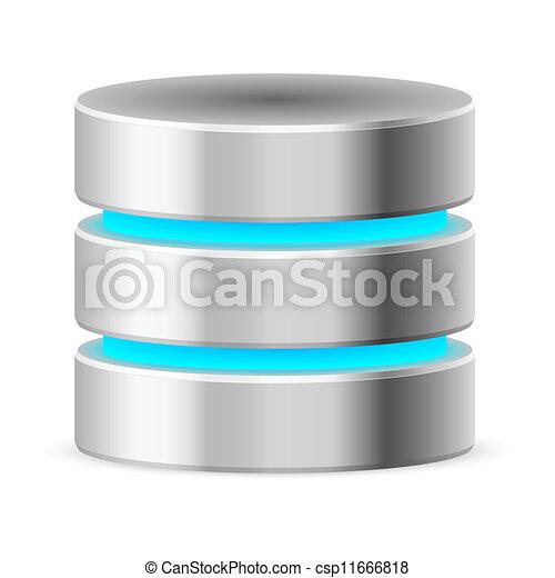 Data base icon - csp11666818