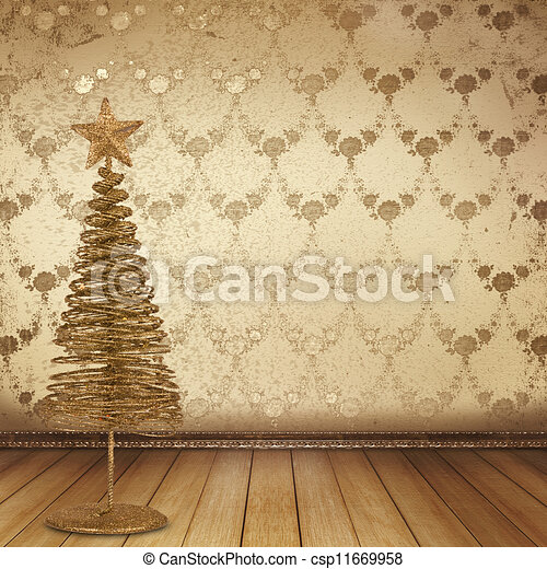 Banco de imagens de natal dourado asseado antigas sala for Sala de estar 3x5
