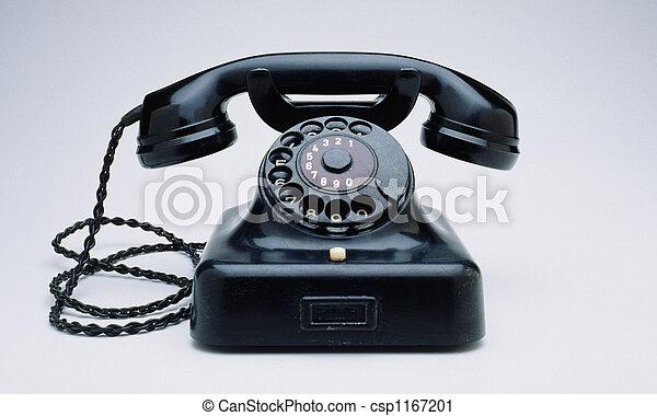 Soviético,  retro, telefone - csp1167201