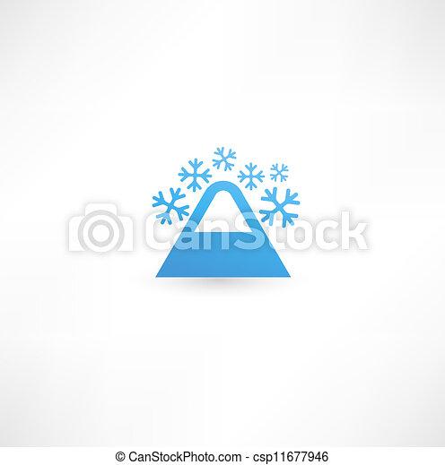 Mountain icon - csp11677946