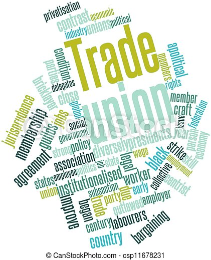 Drawings Of Trade Union Abstract Word Cloud For With Csp11678231 Search