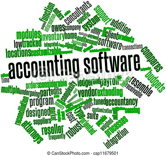 Word cloud for Accounting software - csp11679501