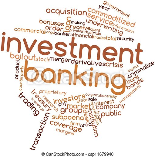 Word cloud for Investment banking - csp11679940