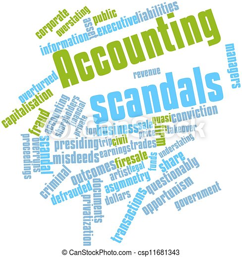 Word cloud for Accounting scandals - csp11681343