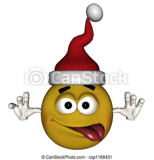 clipart von emoticon weihnachten lustiges emote mit. Black Bedroom Furniture Sets. Home Design Ideas