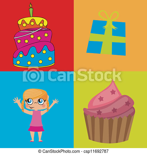 Birthday icons - csp11692787