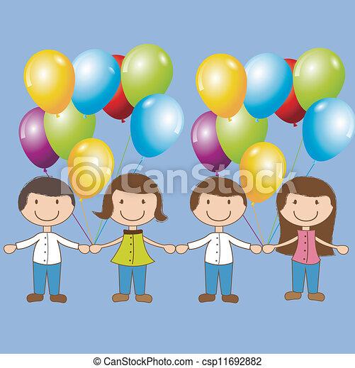 Birthday icons - csp11692882