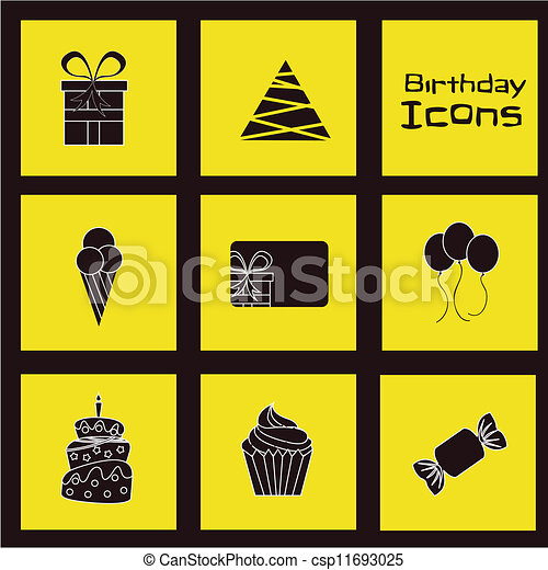 Birthday icons - csp11693025