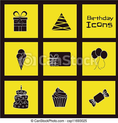 Birthday icons   - csp11693025