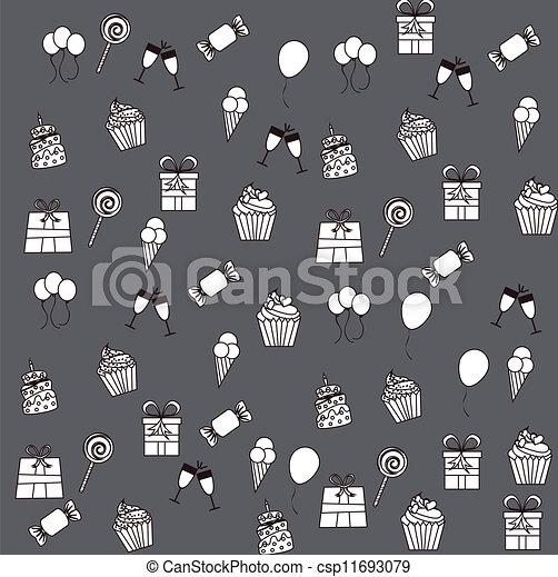 Birthday icons   - csp11693079