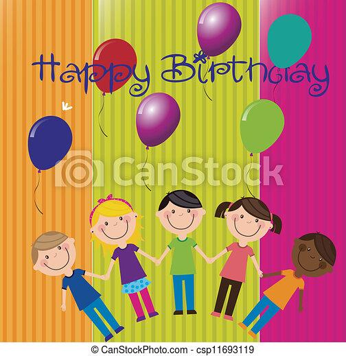 Birthday icons - csp11693119