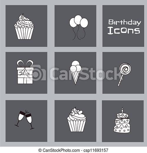 Birthday icons  - csp11693157