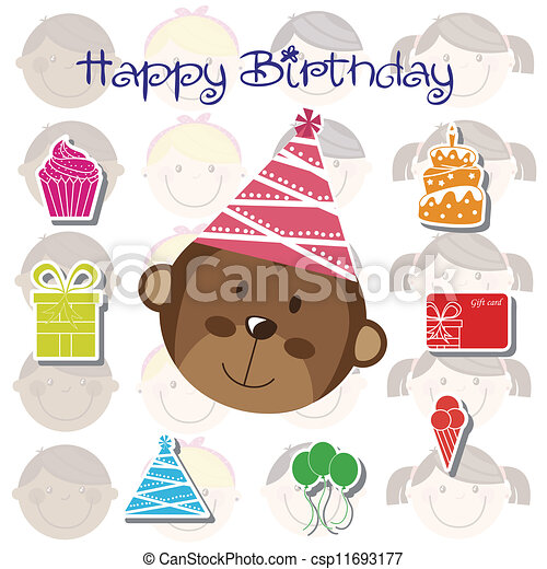 Birthday icons - csp11693177