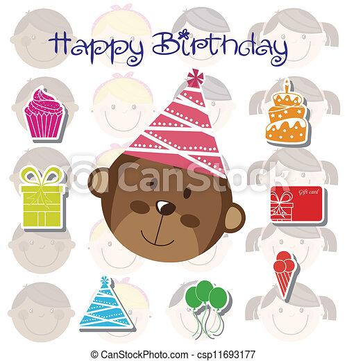 Birthday icons  - csp11693177