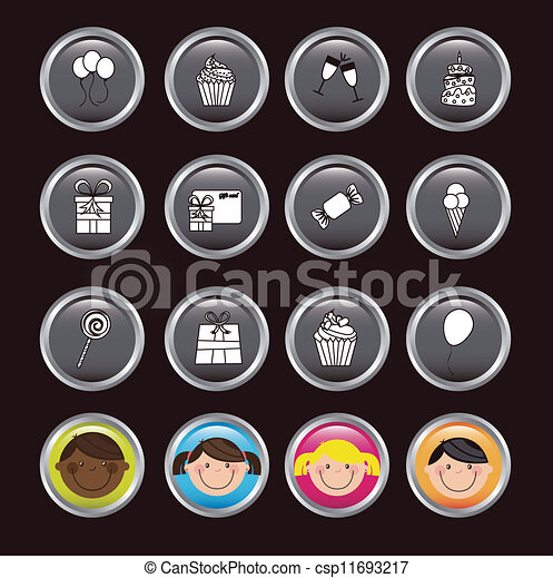 Birthday icons - csp11693217