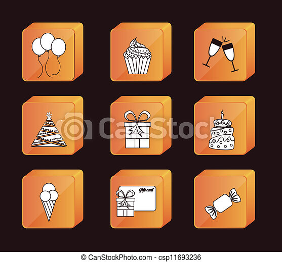 Birthday icons - csp11693236