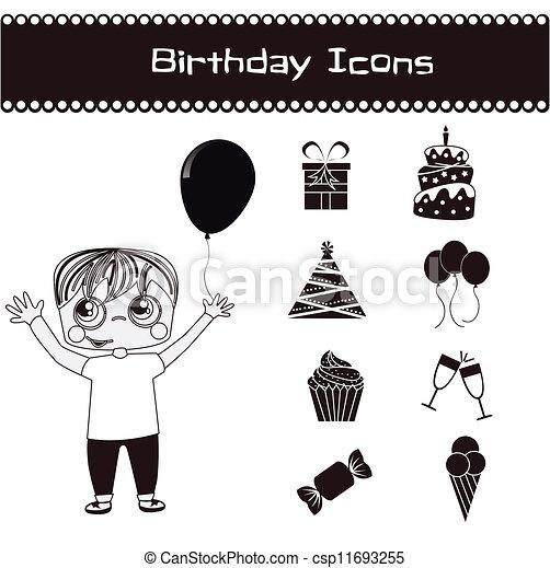 Birthday icons  - csp11693255