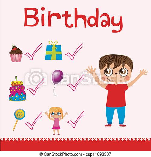 Birthday icons  - csp11693307