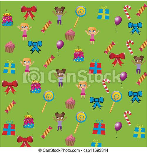 Birthday icons - csp11693344