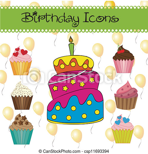 Birthday icons - csp11693394