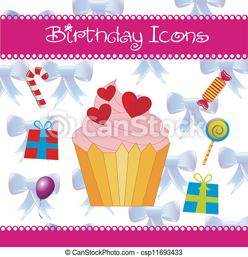 Birthday icons - csp11693433