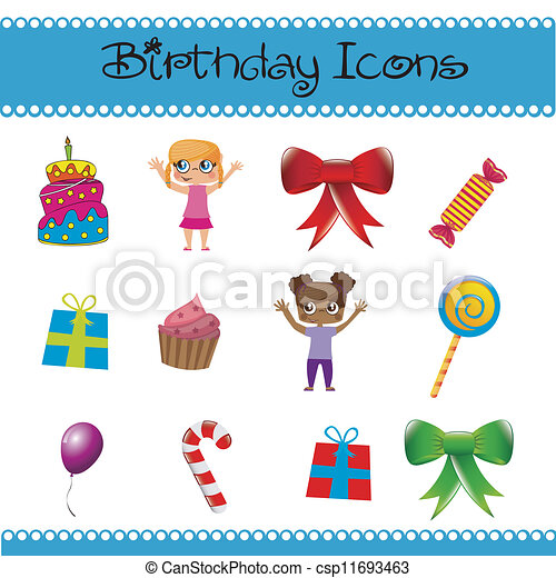 Birthday icons  - csp11693463
