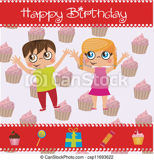 Birthday icons - csp11693622
